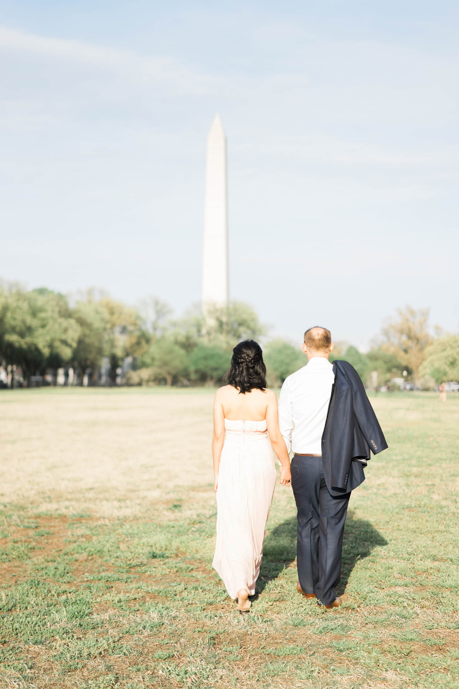 Washington DC Constitution Gardens Engagement Photography