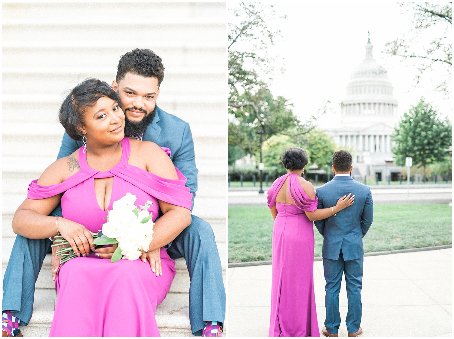 Winnie Dora Photography- Washington, DC Library of Congress Engagement Photos