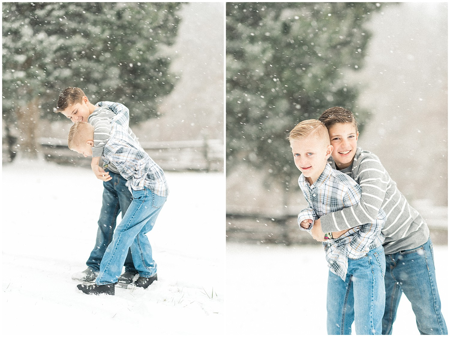 Rockville Maryland Snow Family Session