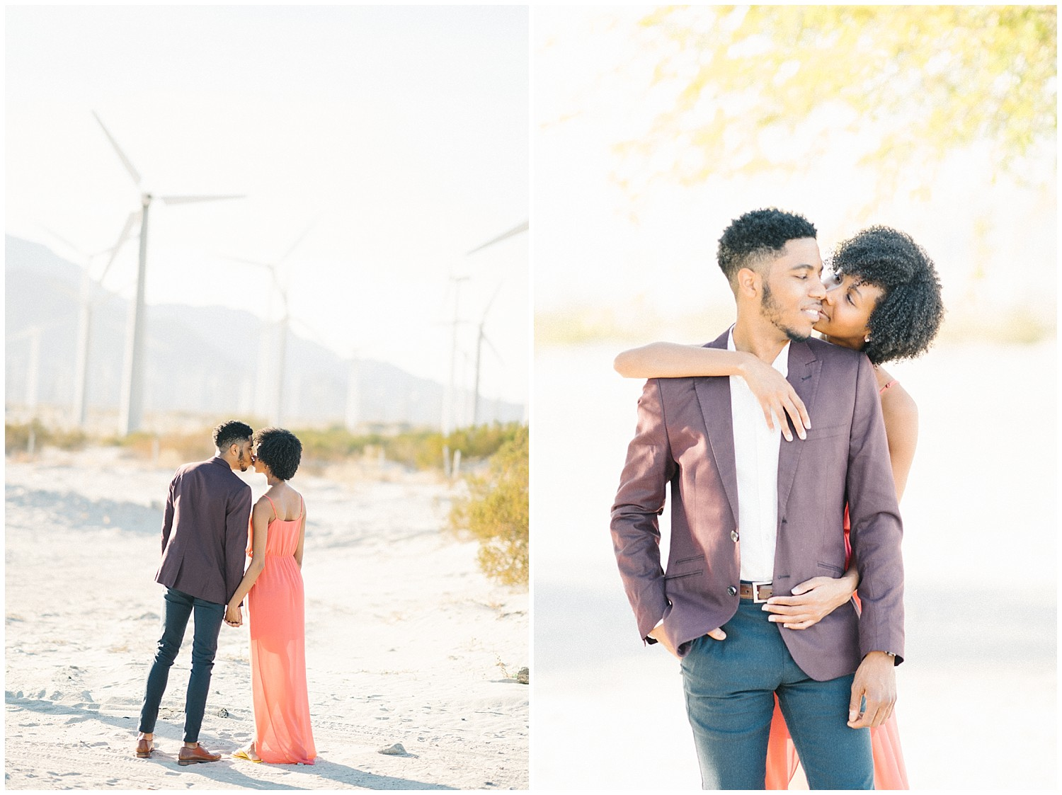 Palm Springs Windmill Engagement Photos