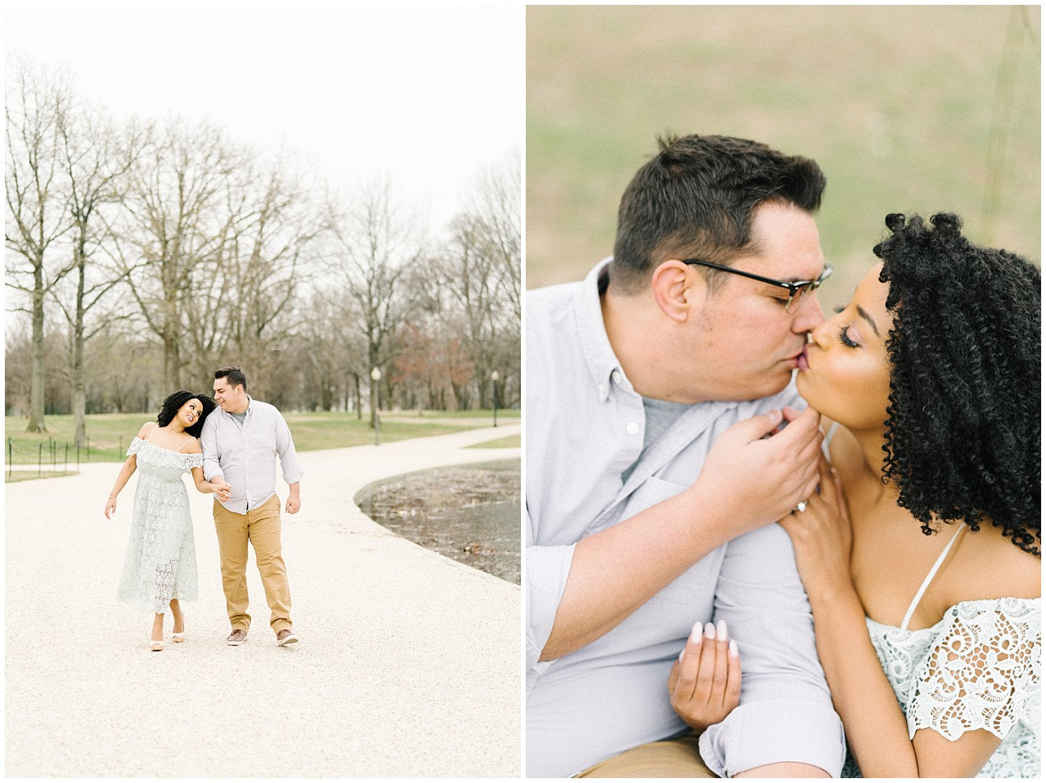 Cherry Blossom and Constitution Gardens Engagement Session in DC