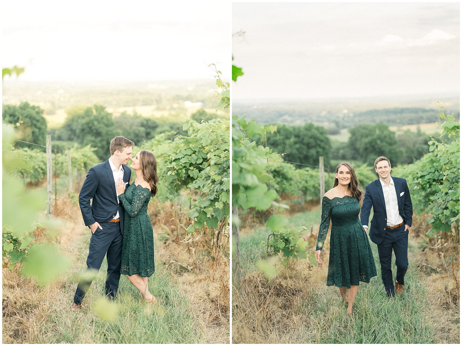 Bluemont Vineyard Engagement Session- Leesburg Engagement and Wedding Photography