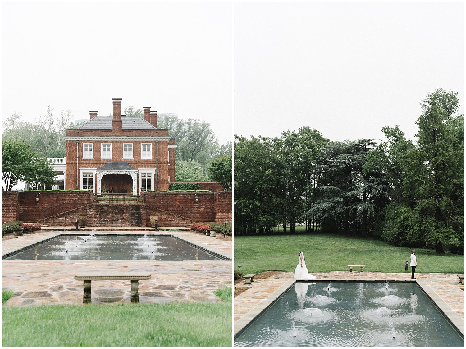 Rainy Spring Wedding at Oxon Hill Manor in Maryland