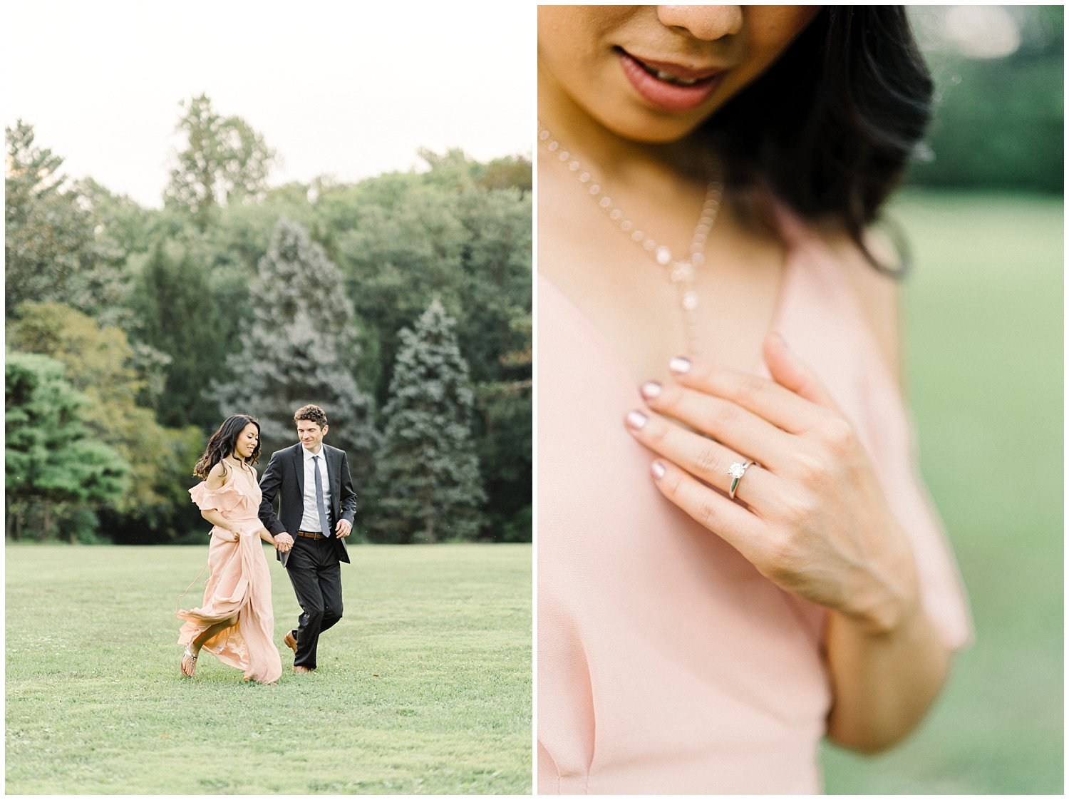 Cylburn Arboretum Engagement Session in Baltimore with Samoyed Puppy