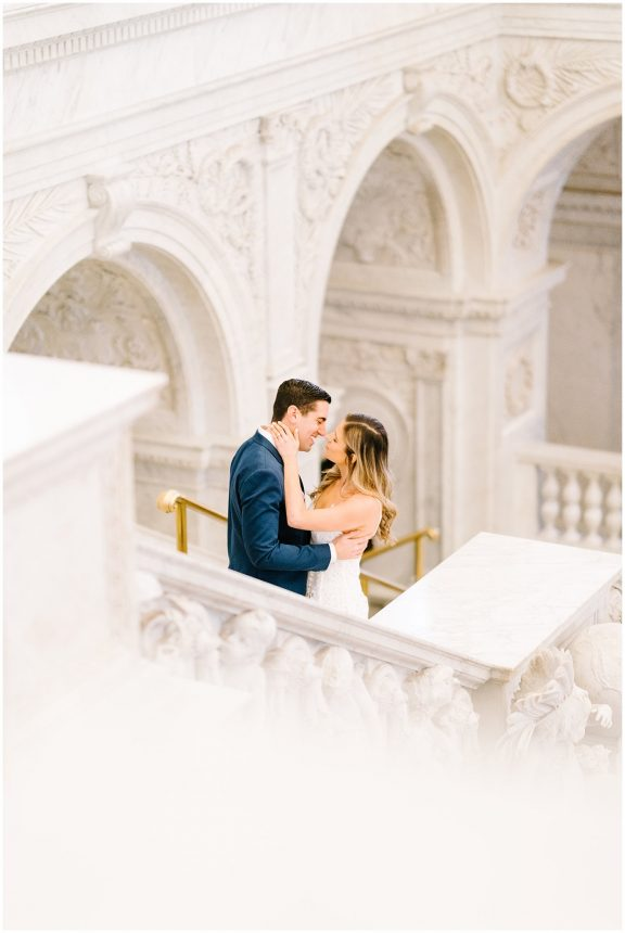Library of Congress Engagement Session- Washington DC indoor engagement