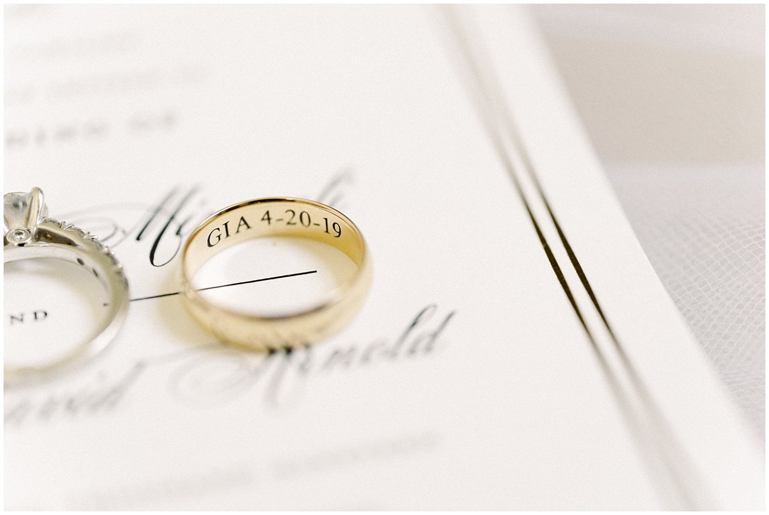 Wedding rings for DAR Constitution Hall Wedding. Winnie Dora Photography