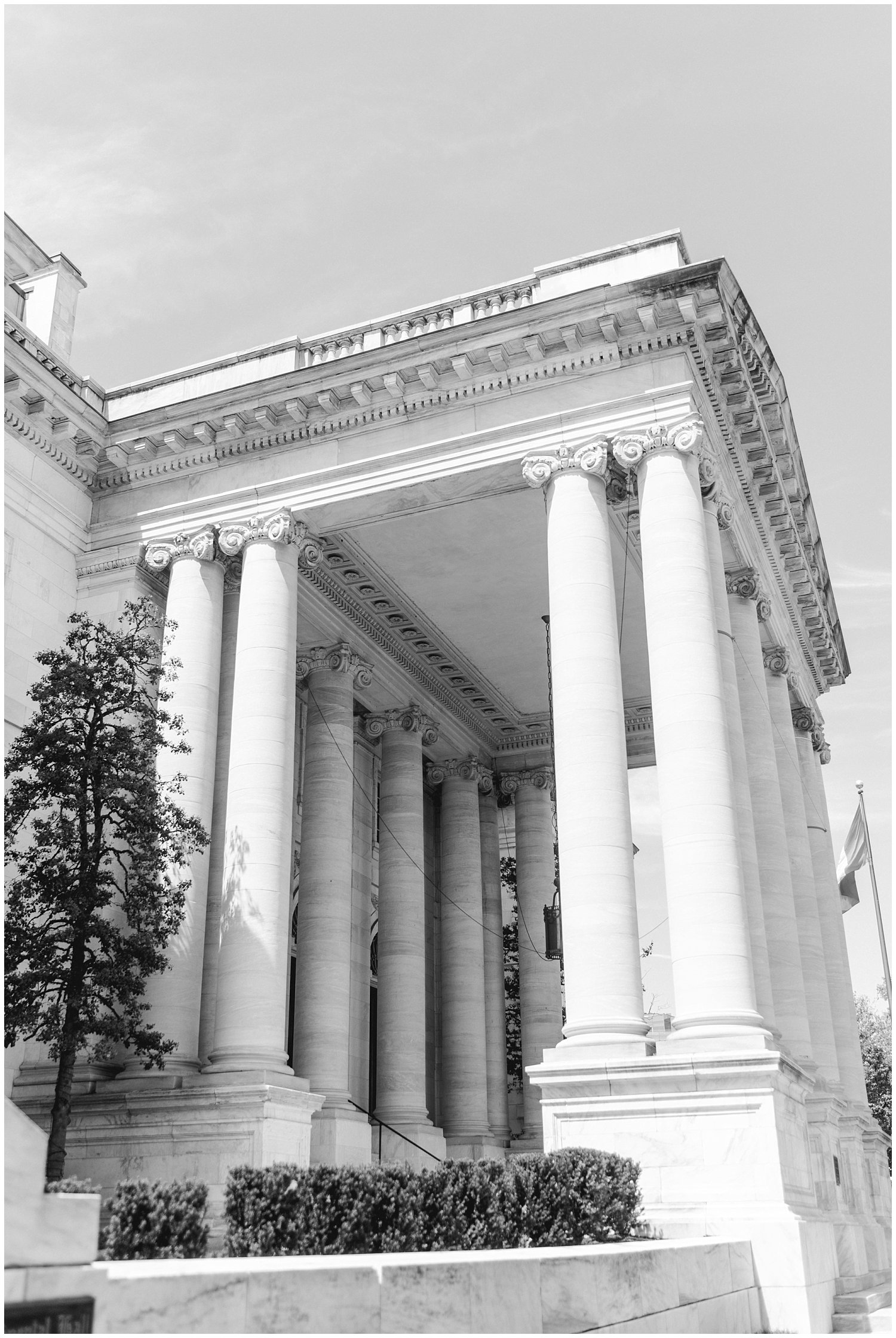 DAR Constitution Hall exterior for DC wedding. Winnie Dora Photography