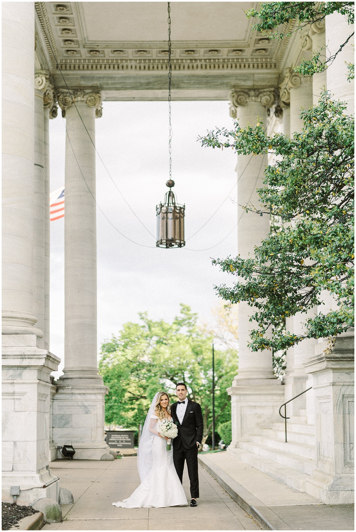 Bride and Groom DAR Constitution Hall Wedding. Winnie Dora Photography