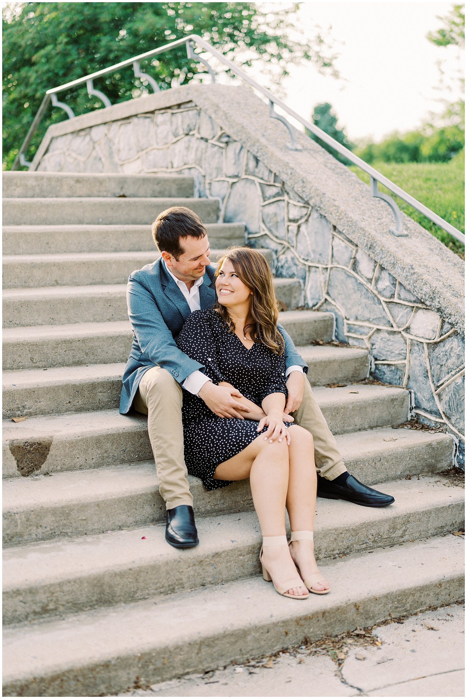 Downtown Frederick engagement session captured by Winnie Dora Photography