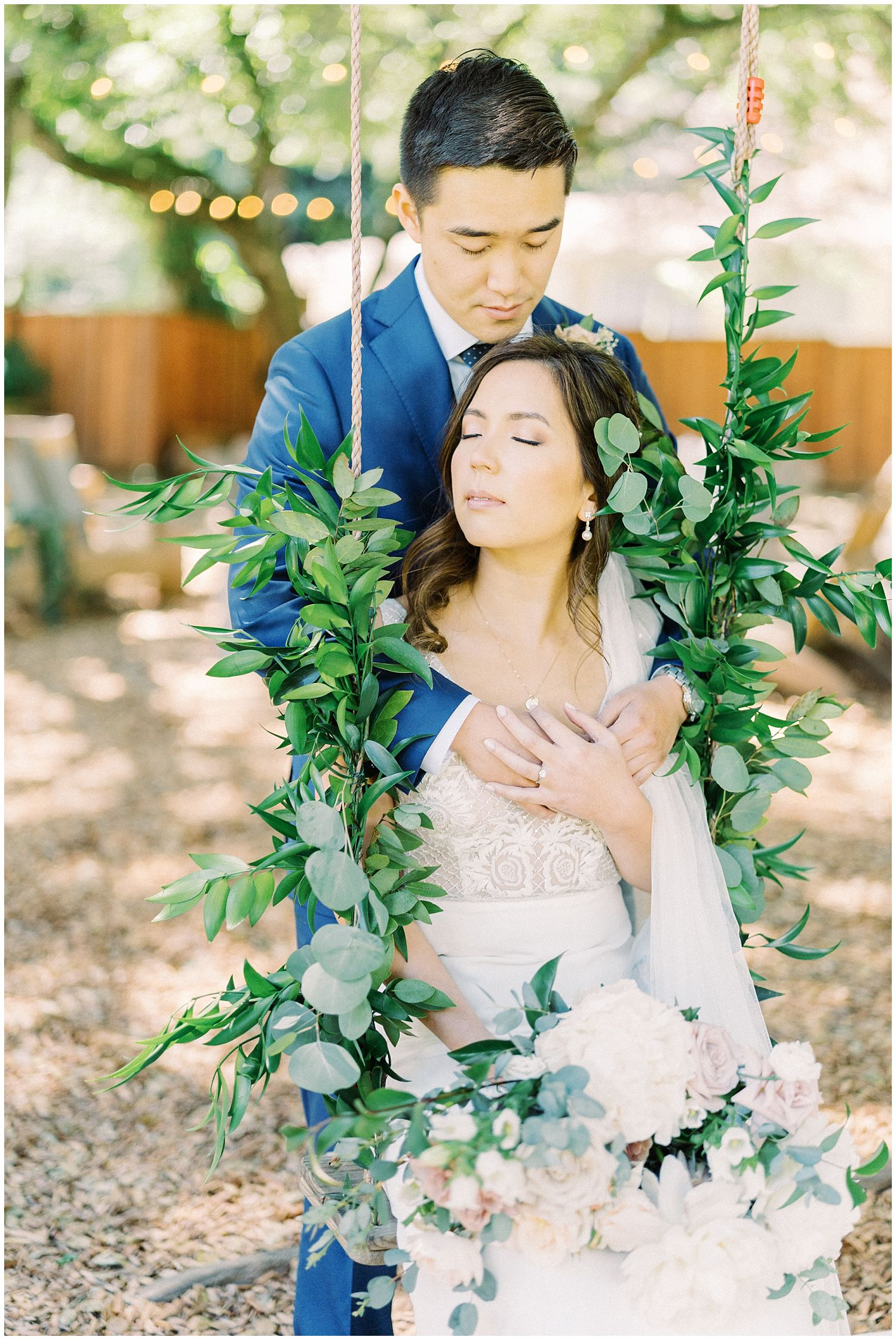 Mountain Terrace Wedding in Woodside, California captured by Winnie Dora Photography