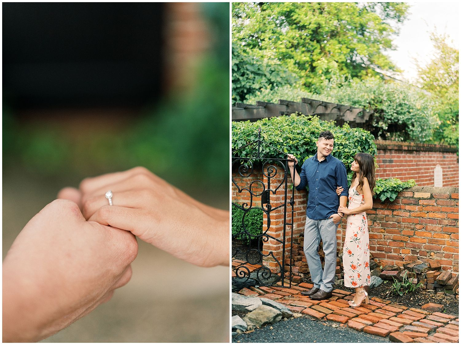 Old Town Alexandria engagement session photography