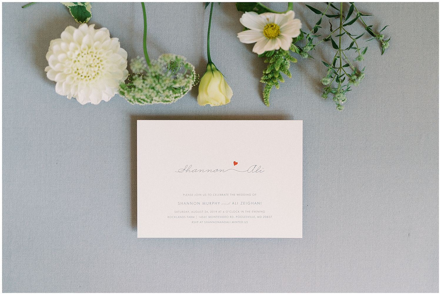 Vintage wedding invitation by Minted