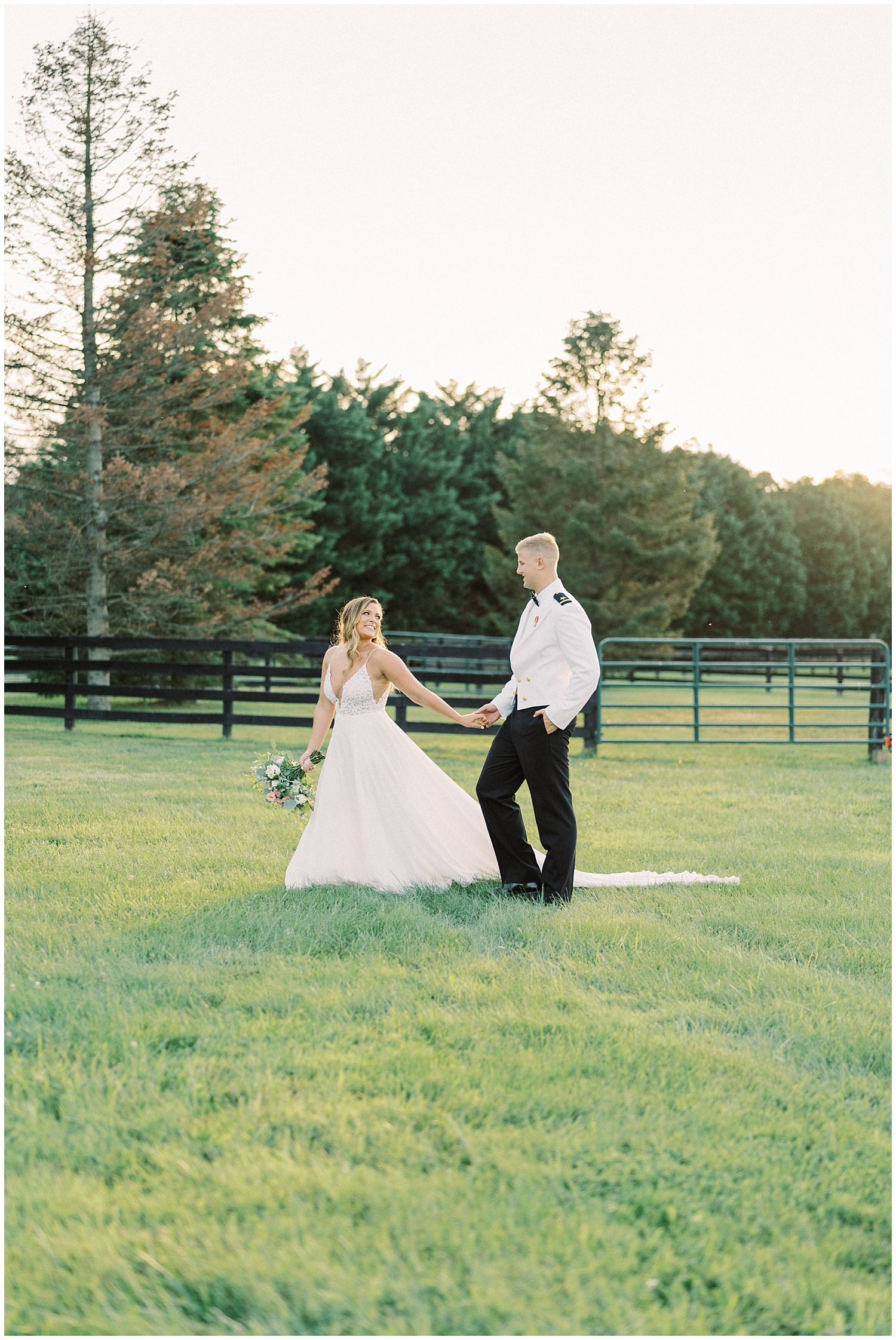 Bride and groom portraits at 8 Chains North Winery