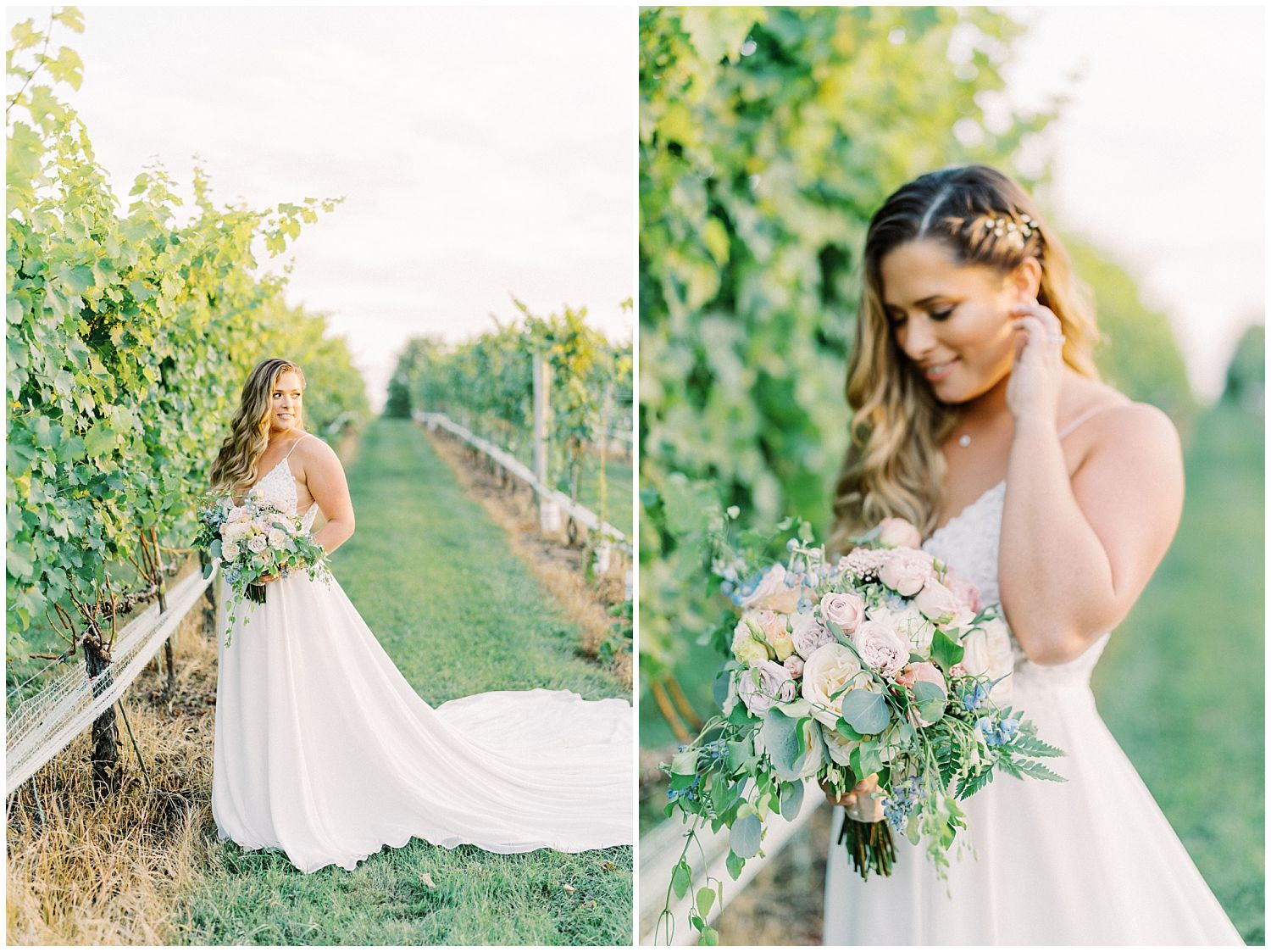 Wedding photography in vineyards at 8 Chains North Winery