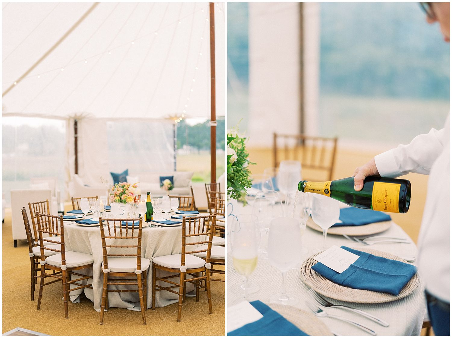 Outdoor tented reception Inn at Perry Cabin