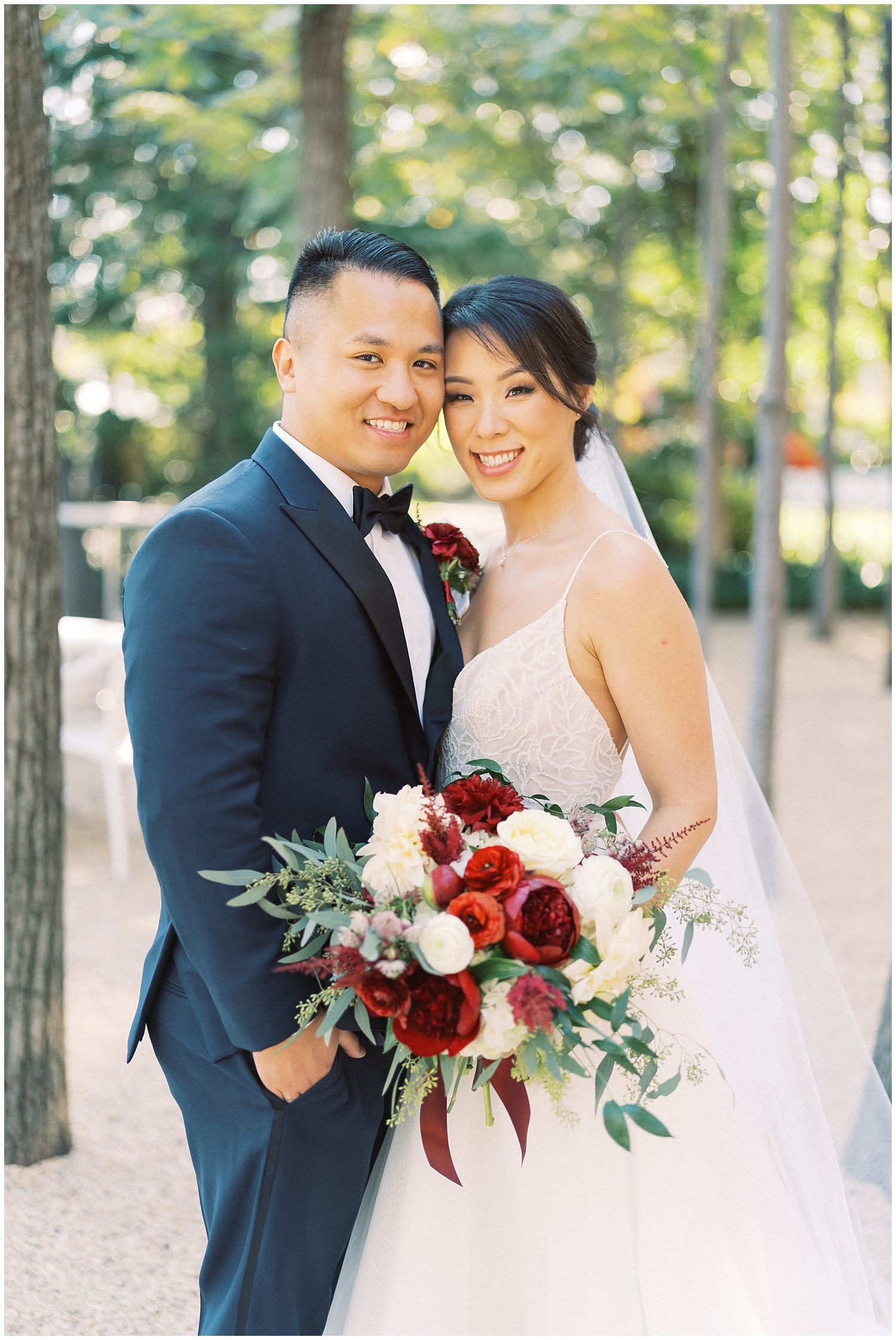 Meridian House fall wedding bride and groom portraits, Washington DC