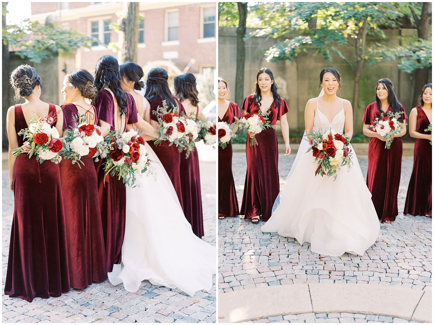 Meridan House wedding bridesmaids and groomsmen