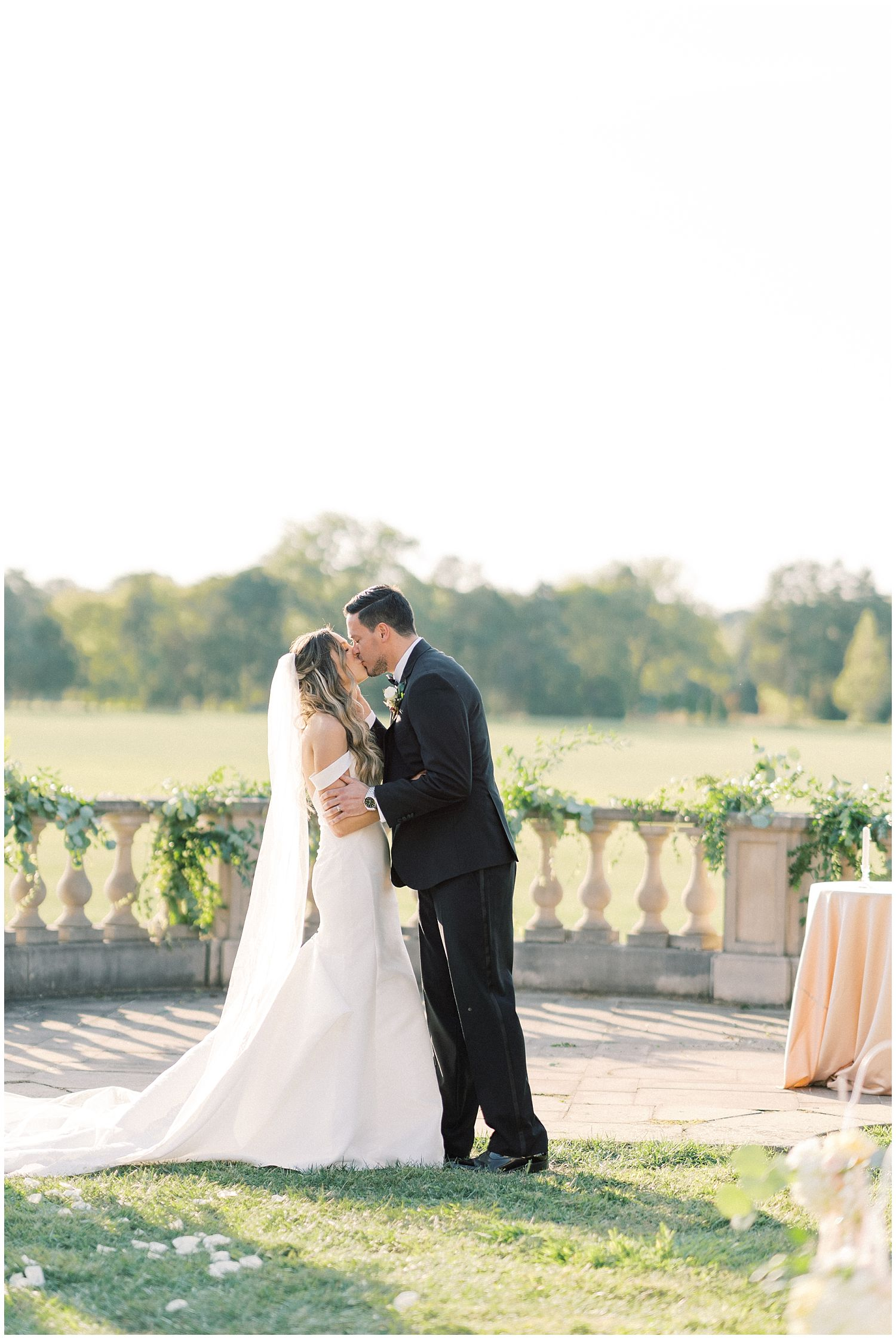 Summer wedding ceremony at Great Marsh Estate in Bealeton, Virginia
