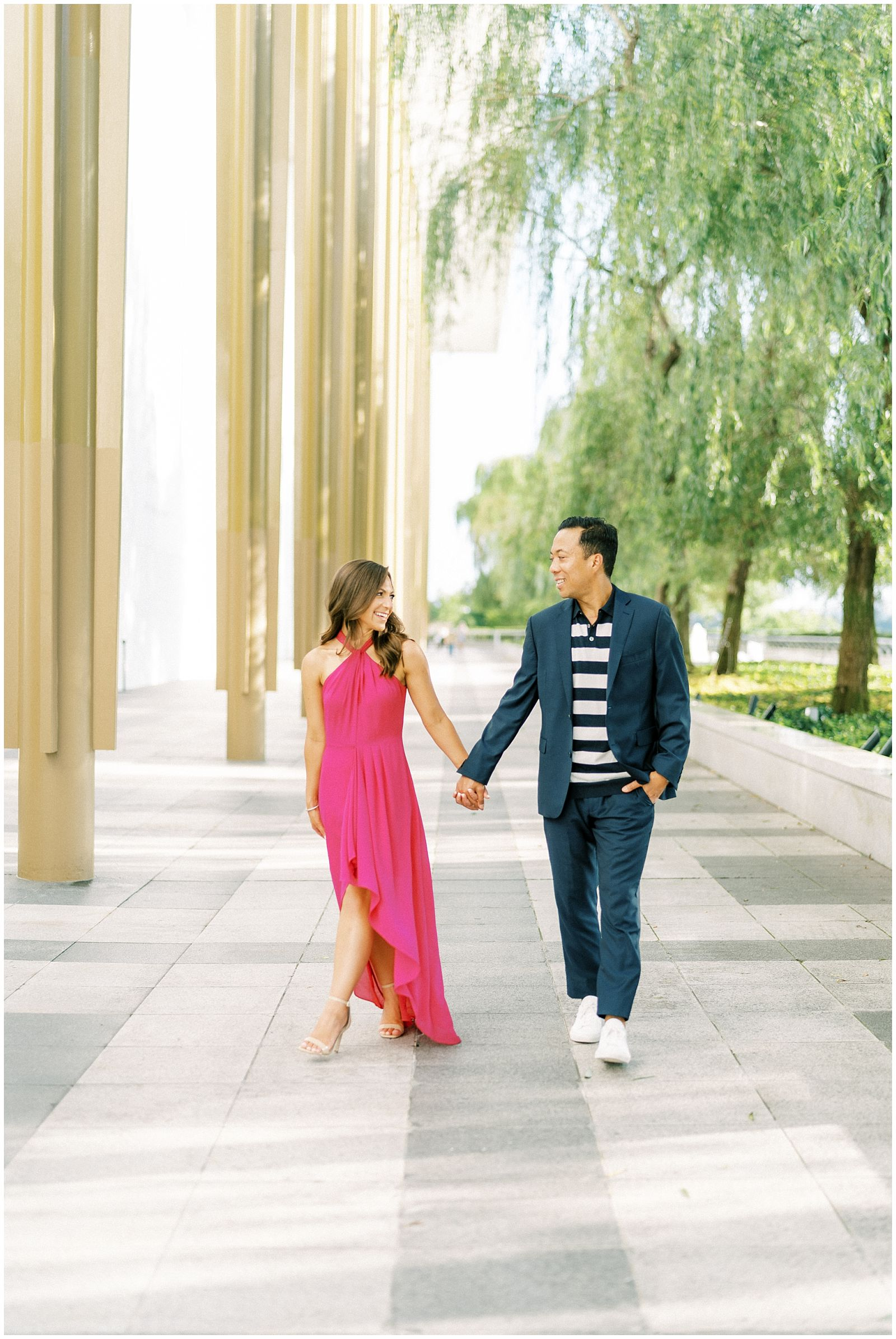 Kennedy Center DC engagement photography session