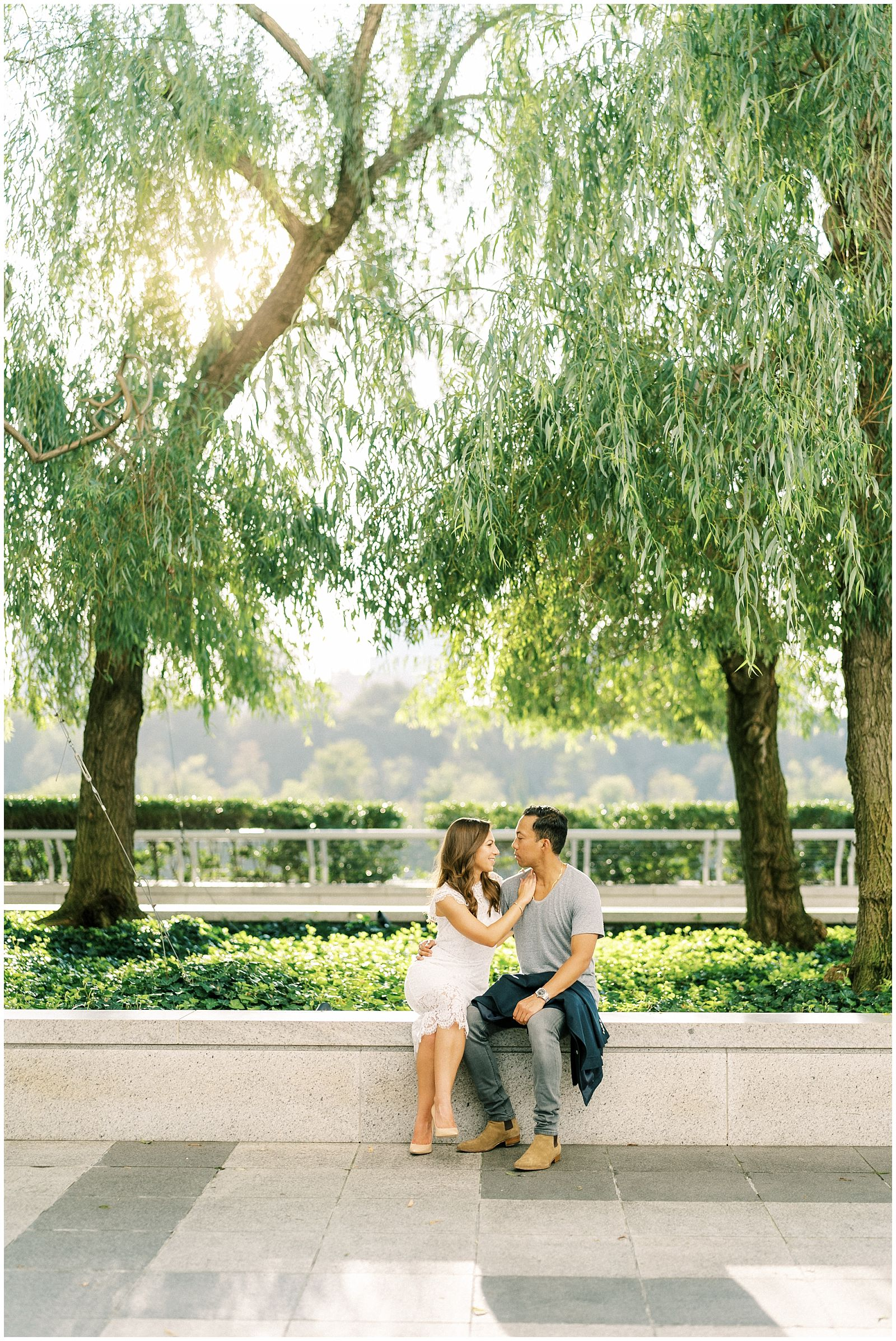 DC engagement photography at the Kennedy Center