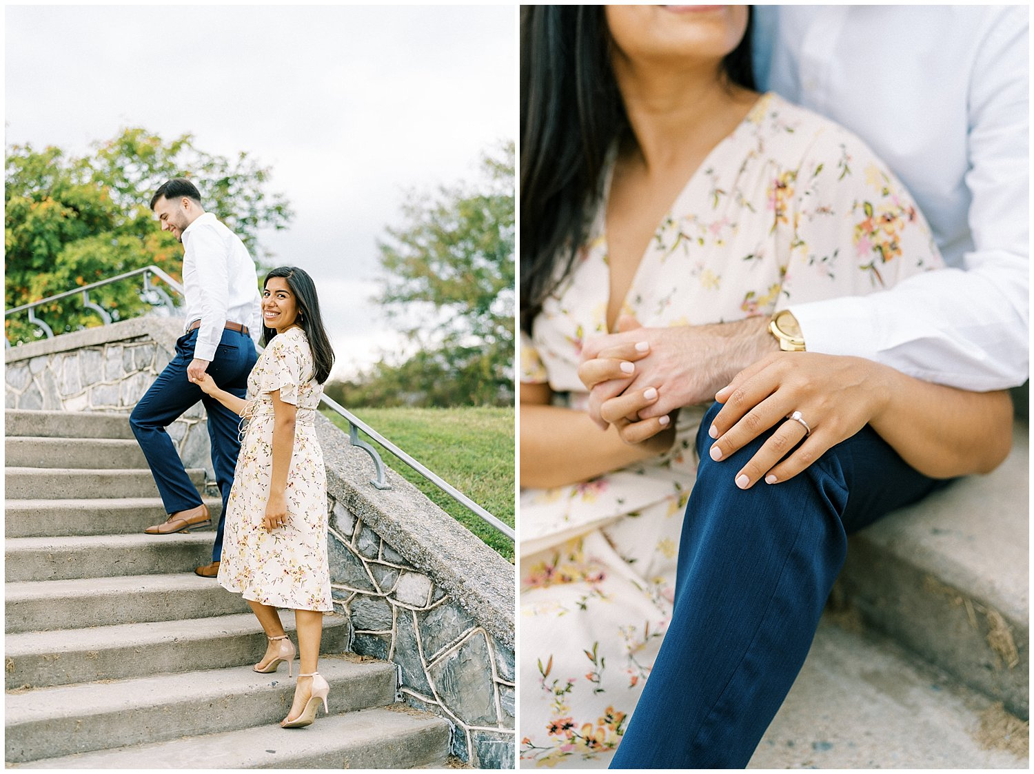 Downtown Frederick MD engagement session